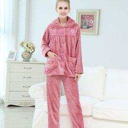221dab87c9 womens velvet pajamas couple set sleepwear 2019 Autumn Winter plus size nightwear  pants 2 piece sexy Home suit household pink