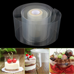 Discount chocolate roll cake 1 Roll Transparent Cake Collar Mousse Surrounding Edge Kitchen Cake Chocolate Candy Baking Surround Film Lining Rings Mo
