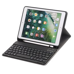 apple keyboard black bluetooth Australia - ultra thin removable detachable rechargeable usb wireless abs silicon bluetooth keyboard portfolio leather case for iPad pro 10.5