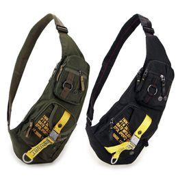 Hard Back Pack Australia - New Waterproof Nylon Chest Bag Travel Military Cross Body Messenger One Shoulder Back Day Pack High Quality Men Sling Rucksack Y19061301