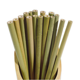 Bamboo Straw Reusable Straw Organic Bamboo Drinking Straws Natural Wood Straws For Party Birthday Wedding Bar Tool C6805 on Sale