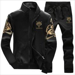 Hoodies Zippers Hood Australia - Men Hoodie Sweatshirt Set 2 Piece Tracksuit Winter Fur Hood Jacket + Pants Male With A Zipper Coat Sporting Sweatpants XXXXL