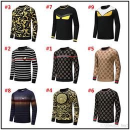 $enCountryForm.capitalKeyWord Australia - 18MODEL Brand Fashion Letter Embroidery Knitwear Winter Men's Clothing Crew Neck Long Sleeve Sweater for Men Designer Hoodies New Arriv