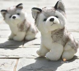 Kawaii Shoes NZ - Kawaii Puppy Stuffed Toys 10 20cm Cute Simulation Husky Dog Plush Toys Stuffed Doll Kids Baby Toys Plush Husky Dolls