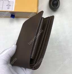 $enCountryForm.capitalKeyWord Australia - Classic Vintage Canvas Men's and Women's Short Wallet Clutch High quality leather card pack coin purse Elegant style and stylish M61675