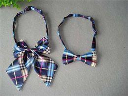 Girls Uniform Shirts Australia - Trendy children's decorative collar flower bow tie primary school kindergarten class uniform school wind college bow tie suit shirt girl