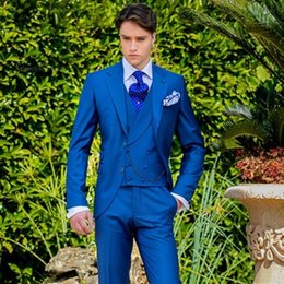 Royal Blue Yellow Suits Australia - 2019 Latest Coat Pant Designs Royal Blue Italian Men Suit Classic Gentle mens Tuxedo Prom Blazer Custom 3 Piece Jacket Masculino