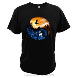 t shirt graphics design NZ - The Hidden World T Shirt Taichi Design Abstract Graphic Short Sleeved Beauty Dusk And Night Tshirt Men Cotton Tees