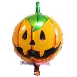 $enCountryForm.capitalKeyWord Australia - Halloween Aluminum Film Decoration Balloons 18 Inches 14 Designs Kids Toys Inflatable Cartoon Animal Pumpkin Printed Party Decoration