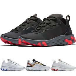 Wholesale New React Element Undercover Men s Running Shoes For Women Designer Sports Sneakers Trainer Summer Comfortable Cool Black White Shoes