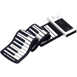 high end speakers NZ - Electric Roll Up Piano Portable Foldable 61 Keys Electronic Music Keyboard Piano Battery or USB Powered with Louder Speaker