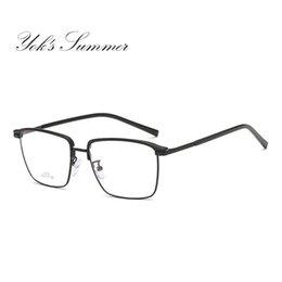 cfe71e25c16 Yok s Rectangle Clear Lens Eyeglasses Women Men Brand Ultralight Alloy Half Frame  Glasses Prescription Optical Spectacle Frames UN1094