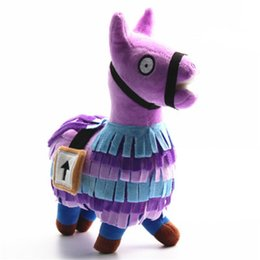 horse suit NZ - 20-35cm Christmas Plush Toy Llama Soft Alpaca Rainbow Horse Pendant Keyring Key Chain Stuffed Animal Toys Kids Birthday Gift
