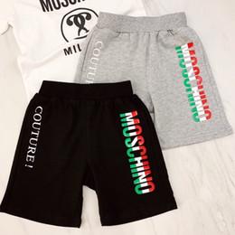 Ingrosso Bambini Designer Shorts bambini di marca di modo lettera stampata pantaloni casuali delle ragazze dei bambini di lusso estate casuale allentata traspirante Pantaloncini