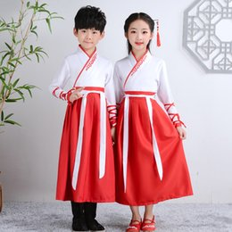 Wholesale performing clothing online – ideas Children s Chinese Clothing Girl Performing Costume Book Boy Elementary School Costume Boy