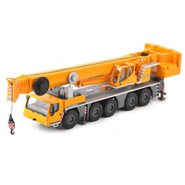 Toy consTrucTion car online shopping - Kids Toys for children Yellow LTM Car Model Toy Alloy Vehicle Lifting Crane Construction Truck