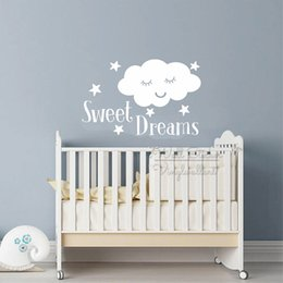 $enCountryForm.capitalKeyWord Australia - Sweet Dreams Quotes Wall Sticker Children Room Cloud Stars Quote Lettering Wall Decal Removable Baby Nursery Quotes Decor Q327