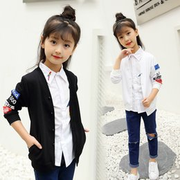 $enCountryForm.capitalKeyWord Australia - The Spring Section in Large Letters Girls Coat Cardigan Shirt For Children in 2019 New Children's Jackets