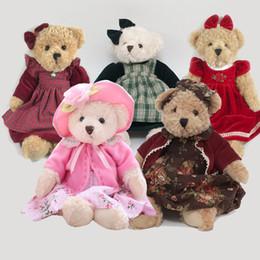 1 UNIDS 40 CM desgaste vestido oso de peluche Animales de Peluche Juguetes de peluche Muñecas regalos de cumpleaños para los niños oso de peluche con un paño de peluche juguetes en venta