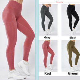 sexy black girls yoga pants NZ - Stitching Pocket Yoga Pants Women's High-stretch Skinny Sports Gym Pants Girl Sexy High Waist Seamless Breathable Leggings
