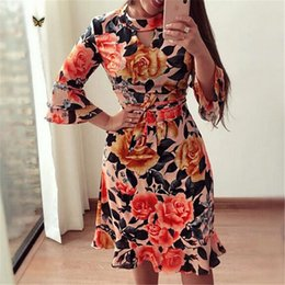 $enCountryForm.capitalKeyWord Australia - Ladies Fashion Autumn Women Dresses Floral Printed Party Bodycon Short Mini Dress Stylish Elegant Woman Dresses designer clothes
