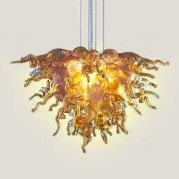 $enCountryForm.capitalKeyWord UK - Art Design Frosted Blown Glass Gold Chandelier Pendant Lamps Best Designed Custom Made Murano Glass Modern Crystal LED Chandelier Home