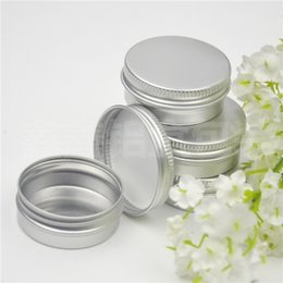 $enCountryForm.capitalKeyWord NZ - 100pcs Screw on Lids Aluminium Jars Cream Jars with Screw Lid,cosmetic Case Jar,15ml Aluminum Tins, Aluminum Lip Container
