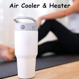 $enCountryForm.capitalKeyWord Australia - Air Cooler Heater Handy Evaporative Fan Air Conditioner 3 Colors Portable Airwirl Space Heater Room Warmer 2 in 1 For Home Office Outdoors