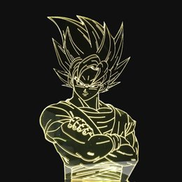 Figures Australia - Innovative 7 Color Changing 3D LED Night Lights For Dragon Ball Figures Modelling USB Touch Button Table Lamp As Creative Gifts