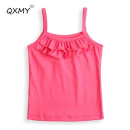 $enCountryForm.capitalKeyWord Australia - New Girls T Shirt Baby Basic Shirt Sleeveless Garment T Shirt For Girls Tops Tees Baby Kids Clothes Designer 2-8 Years