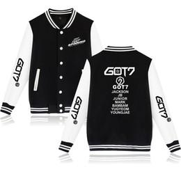 Cool Sweatshirt Jackets Canada - GOT7 WORLD TOUR KEEP SPINNING 2D Print Casual Harajuku Baseball sweatshirt Cool Baseball Jacket Men Women Clothes