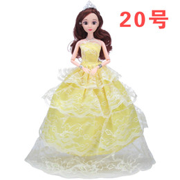 $enCountryForm.capitalKeyWord Australia - Barbie Doll Wedding Dress Princess Toys China Clothes Dress Girl Toys Full Package Will Skirt