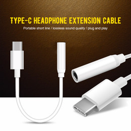 $enCountryForm.capitalKeyWord Australia - Type-C Adapter To 3.5mm Jack Headphone USB C Adapter Audio AUX Cable Earphone Audio Splitter Play Music For Xiaomi Mi8 Converter