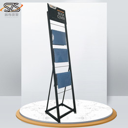 Book Shelves NZ - towel rack  metal display stand for book cover , stationery and office supplies  display shelves for scarf,handkerchief