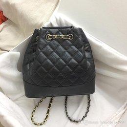 $enCountryForm.capitalKeyWord Australia - 23CM Big Brand Diamond Lattice Backpack Style Shoulder Bag Chains Two-tone Totes Bucket Handbags women Genuine leather Fashion wholesale