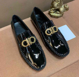 Office Career Shoes NZ - Luxury Newest Men Loafers Moccasin-gommino Office Career Casual Wedding Waterproof Genunie Leather Business Dress Shoes EU38-44