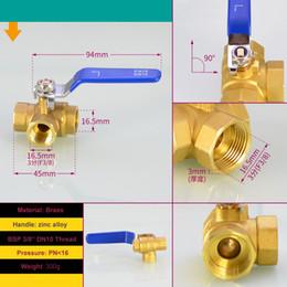 "$enCountryForm.capitalKeyWord NZ - Brass Ball Valve 3 Way 3 8"" BSP Female Thread DN10 90 Degree Rotate For Water ,Gas,Steam,Corrosion,Acid and Alkali"