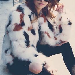 faux hairy jacket 2019 - 2019 Winter Warm Fluffy Faux Fur Coat Women Long Sleeve Fur Jacket Female Outerwear Autumn Winter Fake Coat Hairy Overco