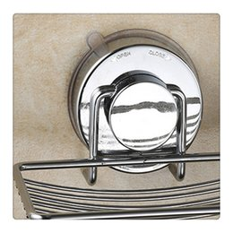 Wholesale Soap Dishes Stainless Steel Soap Holder Basket with Strong Suction Cup Wall Mount Bathroom Accessories New