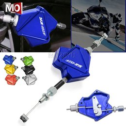 Yamaha levers online shopping - Motorcycle CNC Aluminum Stunt Clutch Lever Easy Pull Cable System For YAMAHA YZ450F YZ F YZ450 F