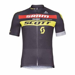 Bicycle Sales Australia - Hot Sale 2019 Team SCOTT Cycling jersey summer quick dry Tour de france short sleeve MTB Bicycle shirt Cycling Clothing Y032005