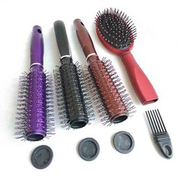 9.8inch Hair Brush Stash Safe Diversion Secret storage boxs Security Hairbrush Hidden Valuables Hollow Container Pill Case 5 color on Sale