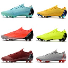vapor football Canada - Low Ankle Football Boots Game Over Mercurial Vapors XII Elite FG Kids Soccer Shoes Neymar ACC Superfly Vapors VII 360 CR7 Soccer Cleats