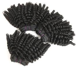 Discount 16 inch kinky weave - Afro hair Mongolian afro kinky curly hair, 3 bundles 100% Unprocessed 9A Virgin Human Hair Bundles Short Hairstyles Funm