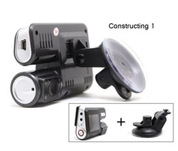 Digital Cameras Vision Australia - Full HD 1080P Dual Lens Car DVR Dual Camera Car Video Recorder Blackbox Dash Cam Night Vision 140View Dual Lens Camcorder i1000