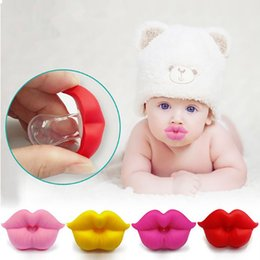 Yellow Lips Australia - Funny Baby Pacifier Kiss Lips Dummy Pacifiers Infant Silicone Nipples Soothers Pacifier Fashion Baby Dental Care Accessories