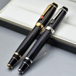 Branded Luxury Pens Australia - Luxury Bohemies Black Resin Golden   Silver Clip Roller ball pen Office & School Supplies with Diamond Cap and Monte Branding Serial number
