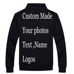 heated jackets NZ - Custom Print Jackets Heat transfer Embroidery Ditital Customized Made jaqueta Jacket Sweatshirt Personal DIY Name design