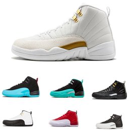 29d6c17f9e4082 Designer 12 12s mens basketball shoes sneakers OVO White Gym Red Dark Grey  women Basketball Shoes Taxi Blue Suede Flu Game CNY