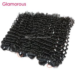 $enCountryForm.capitalKeyWord UK - Glamorous Human Hair Weaves 4 Bundles Double Weft Brazilian Tight Curly Virgin Hair Weft 8-30inch Peruvian Indian Malaysian Remy Hair Weaves